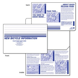 bicycle papers envelope for bike shop