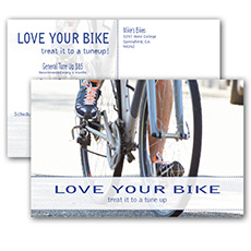 bicycle tune up postcards