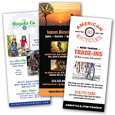 bike shop rack card